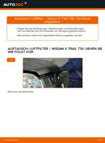 Wie der Wechsel durchführt wird: Luftfilter 2.2 dCi 4x4 Nissan X Trail t30 tauschen