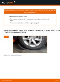 How to carry out replacement: Track Rod End on 2.2 dCi 4x4 Nissan X Trail t30