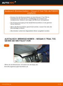 Wie der Wechsel durchführt wird: Bremsscheiben 2.2 dCi 4x4 Nissan X Trail t30 tauschen