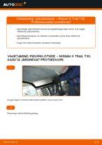 Millal vahetada Piduriklotsid NISSAN X-TRAIL (T30): käsiraamat pdf
