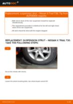 Step by step PDF-tutorial on Shock Absorber NISSAN X-TRAIL (T30) replacement