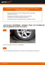 Verschleißanzeige Bremsbeläge wechseln NISSAN X-TRAIL: Werkstatthandbuch