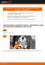 Sostituzione Cuscinetto mozzo ruota MERCEDES-BENZ M-CLASS: pdf gratuito