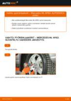 MERCEDES-BENZ M-CLASS Pyöränlaakerisarja vaihto: ilmainen pdf