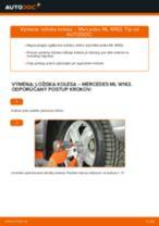 Online návod, ako svojpomocne vymeniť Čap riadenia na aute MERCEDES-BENZ M-CLASS (W163)