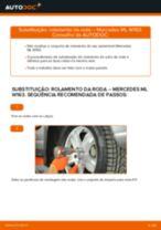 Mudar Rolamento da Roda dianteira e traseira Mercedes Vito W639: guia pdf