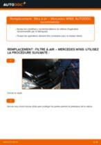 Comment changer et régler Filtre à Air MERCEDES-BENZ A-CLASS : tutoriel pdf