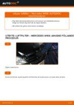 Lär dig hur du fixar Luftfilter MERCEDES-BENZ problemen