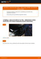 Jak vyměnit vzduchový filtr na Mercedes W169 – návod k výměně