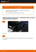 Como mudar filtro de ar em Mercedes W169 - guia de substituição