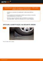 Como mudar tirante da barra estabilizadora da parte dianteira em Mercedes W169 - guia de substituição