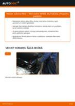 MERCEDES-BENZ A-CLASS Salona filtrs nomaiņa: rokasgrāmata