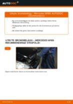 Montering Bromsklotsar MERCEDES-BENZ A-CLASS (W169) - steg-för-steg-guide