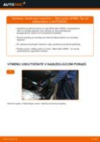 Ako vymeniť zadné brzdové kotúče na Mercedes W169 – návod na výmenu