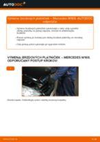 Ako vymeniť zadné brzdové platničky na Mercedes W169 – návod na výmenu