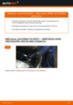 Vgraditi Zavorne Ploščice MERCEDES-BENZ A-CLASS (W169) - priročniki po korakih