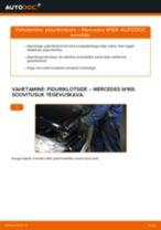 Asendamine Piduriklotsid MERCEDES-BENZ A-CLASS: käsiraamatute