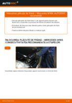 Schimbare Placute Frana MERCEDES-BENZ A-CLASS: pdf gratuit