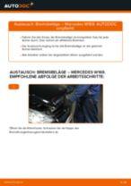 Einbau von Bremssteine beim MERCEDES-BENZ A-CLASS (W169) - Schritt für Schritt Anweisung