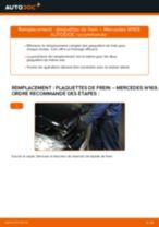 Changement Plaquettes de Frein MERCEDES-BENZ A-CLASS : manuel d'atelier