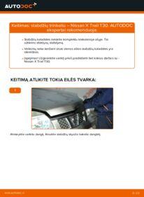 Kaip atlikti keitimą: 2.2 dCi 4x4 Nissan X Trail t30 Stabdžių Kaladėlės