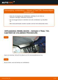 Vervangen: Remblokken NISSAN X-TRAIL