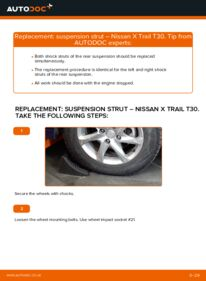 How to carry out replacement: Shock Absorber on 2.2 dCi 4x4 Nissan X Trail t30