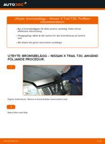 Så byter du Bromsbelägg på 2.2 dCi 4x4 Nissan X Trail t30