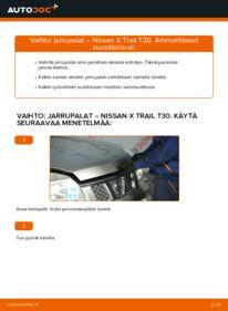 Kuinka vaihtaa Jarrupalat 2.2 dCi 4x4 Nissan X Trail t30 -autoon