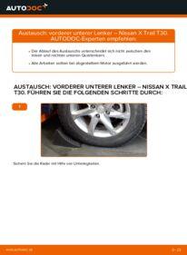 Wie der Wechsel durchführt wird: Querlenker 2.2 dCi 4x4 Nissan X Trail t30 tauschen