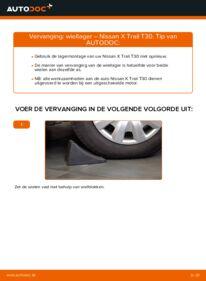 Vervangen: Wiellager 2.2 dCi 4x4 Nissan X Trail t30