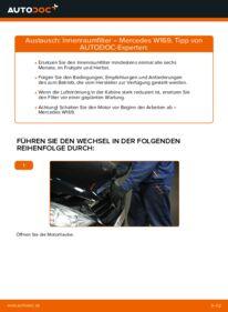 Wie der Wechsel durchführt wird: Innenraumfilter A 180 CDI 2.0 (169.007, 169.307) Mercedes W169 tauschen