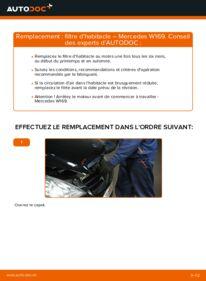 Comment effectuer un remplacement de Filtre d'Habitacle sur A 180 CDI 2.0 (169.007, 169.307) Mercedes W169