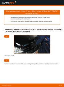 Comment effectuer un remplacement de Filtre à Air sur A 180 CDI 2.0 (169.007, 169.307) Mercedes W169