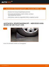 Wie der Wechsel durchführt wird: Spurstangenkopf A 180 CDI 2.0 (169.007, 169.307) Mercedes W169 tauschen
