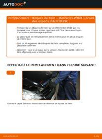 Comment effectuer un remplacement de Disques De Frein sur A 180 CDI 2.0 (169.007, 169.307) Mercedes W169