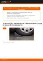 Como mudar amortecedores da parte traseira em Mercedes W169 - guia de substituição