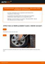 Comment changer : jambe de suspension avant sur Mercedes W169 - Guide de remplacement