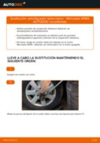 Cómo cambiar: amortiguador telescópico de la parte delantera - Mercedes W169 | Guía de sustitución