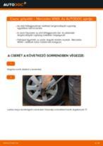 Elülső gólyaláb-csere Mercedes W169 gépkocsin – Útmutató