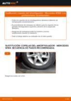 Cómo cambiar: copelas del amortiguador de la parte delantera - Mercedes W169 | Guía de sustitución