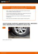 Come cambiare supporto ammortizzatore della parte anteriore su Mercedes W169 - Guida alla sostituzione