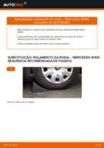 Como mudar rolamento da roda da parte dianteira em Mercedes W169 - guia de substituição