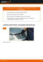Hvordan skifter man og justere Oliefilter VW SHARAN: pdf manual
