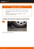 Výmena Pruženie VW SHARAN: dielenská príručka