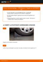 Elülső toronycsapágy-csere VW Sharan 1 gépkocsin – Útmutató
