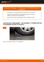 Wie Fernscheinwerfer Glühlampe VW SHARAN wechseln und einstellen: PDF-Leitfaden