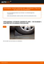 Hoe Draagarm wielophanging vervangen en installeren VW SHARAN: pdf tutorial