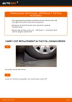How to replace and adjust Wheel Hub VW SHARAN: pdf tutorial