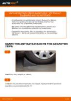 Πώς να αλλάξετε βάση αμορτισέρ εμπρός σε VW Sharan 1 - Οδηγίες αντικατάστασης